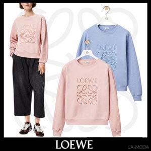 LOEWE ロエベアナグラム エンブロイダリー スウェットシャツ コットンコピーS359341XA8