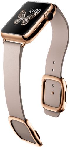 Apple Watch スーパーコピー38mm18Kローズゴールドケースとローズグレイモダンバックル