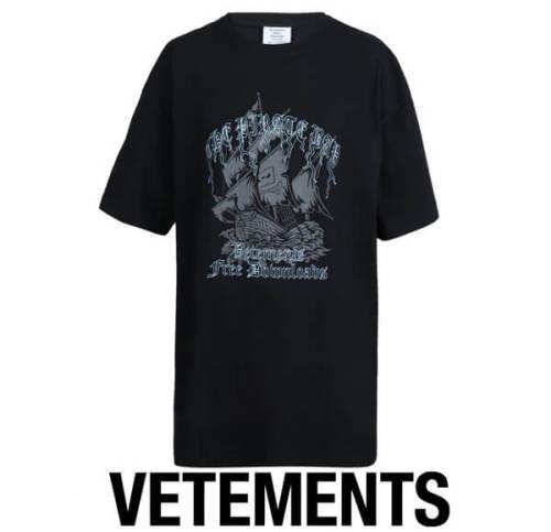 ヴェトモン tシャツ 偽物 VETEMENTS The Pirate Bay T-Shirt オーバーサイズ
