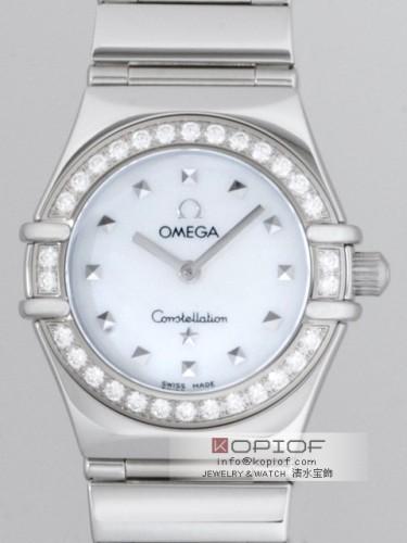 オメガ コンステレーション スーパーコピーミニ 1465.71 マイチョイス ダイヤベゼル ホワイトシェル