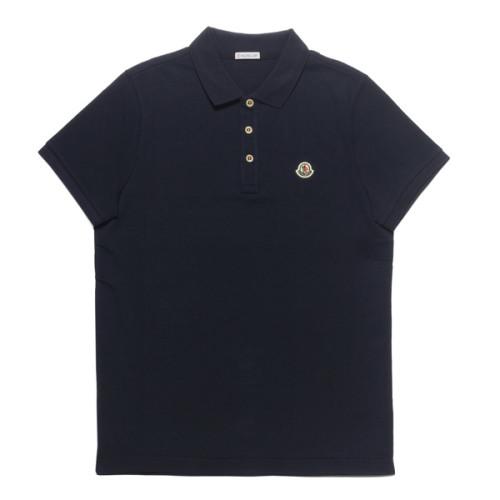 モンクレール ポロシャツ 偽物 メンズ 8340800 84556 773 半袖ポロシャツ NAVY ダークブルー