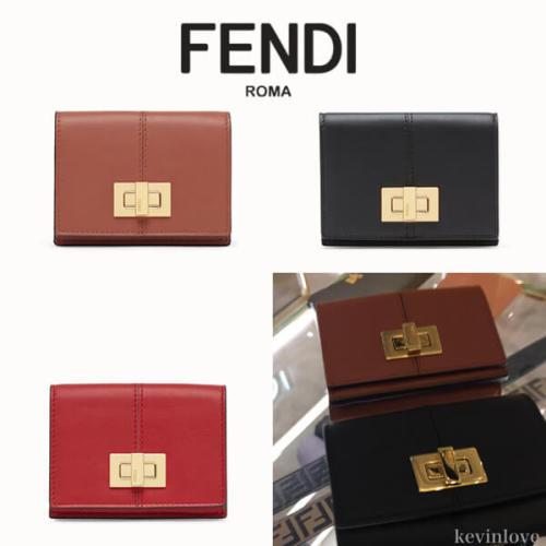 FENDI フェンディ ピーカブー コピー 三つ折り財布 8M0415A5DY