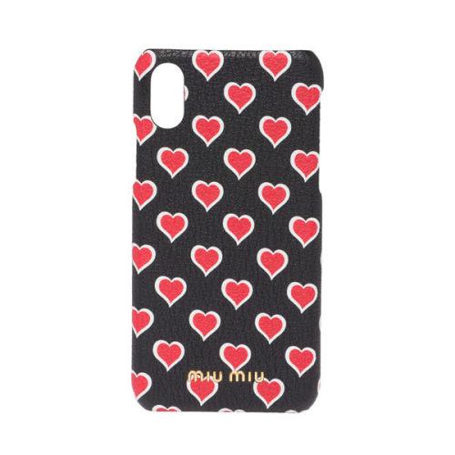 miumiu iphoneケース コピー miumiu ハートモチーフ iPhoneケース