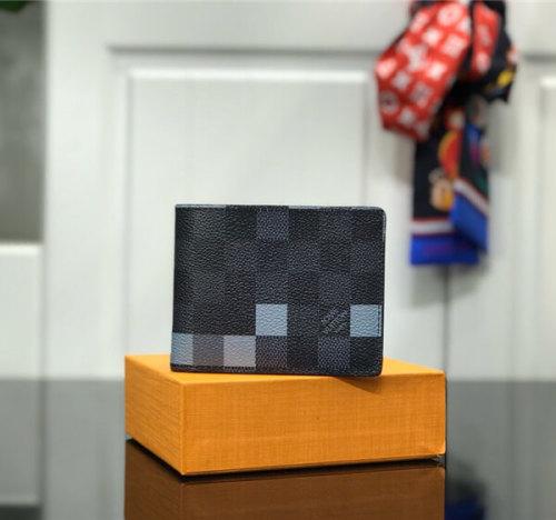 ルイヴィトン ポルトフォイユ スレンダー N60181 二つ折り財布 ダミエ パンツやジャケットのポケットにも収まる