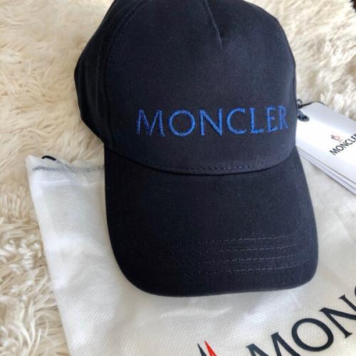 モンクレール キャップ コピー ロゴ ベースボールキャップ ネイビーMONCLER LUREX LOGO BASEBALL CAP
