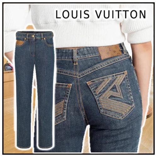 ルイヴィトンLouis Vuitton 偽物ミッドライズインディゴデニム 1A83VE