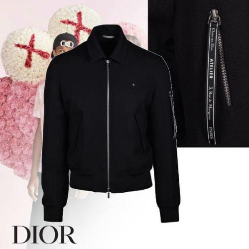 Dior Atelier Bee 偽物 ロゴ ナイロン ボンバージャケット ブラック
