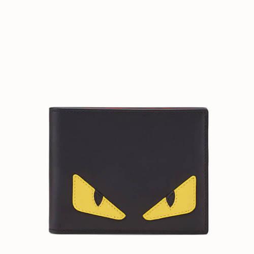 フェンディ モンスター 財布 コピー 二つ折り バッグバグス カーフレザー マルチカラー財布