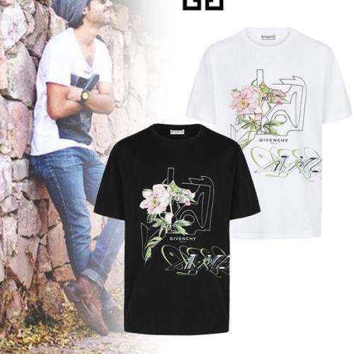 ジバンシー tシャツ 偽物 GIVENCHY 2020新作 フローラル ピオニー プリントTシャツ