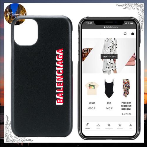 2020SS バレンシアガ iphone ケース 偽物 安心の国内発送ロゴ iPhone 11 素材