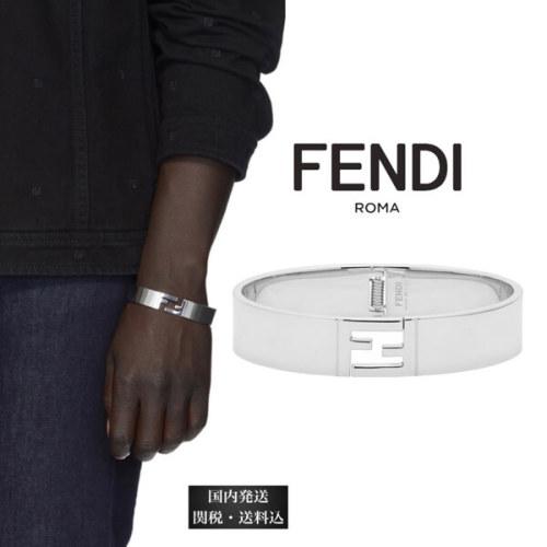 フェンディ ブレスレット コピー FENDI シルバー Forever Fendi オープン クラスプ ブレスレット