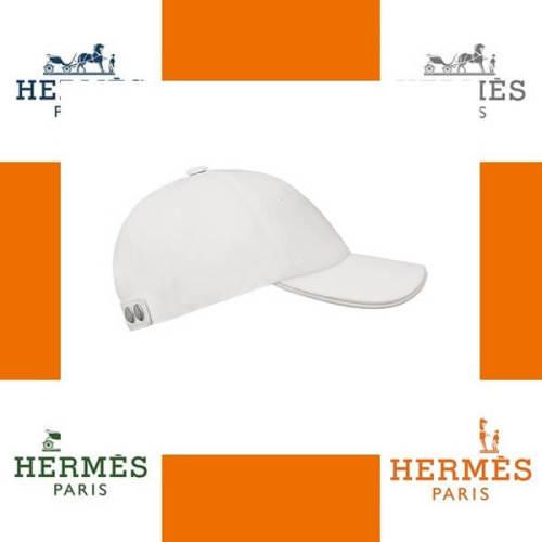 エルメス帽子コピー Jumpコットンリネンキャンバスキャップホワイト H161058N 9057