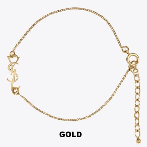サンローラン ブレスレット コピー Saint Laurent★YSLチャームブレスレット GOLD/MIRROR