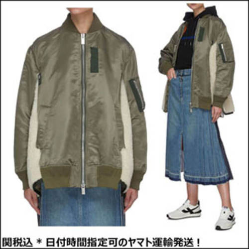 SACAI サイドボア切替MA-1偽物ボンバージャケット