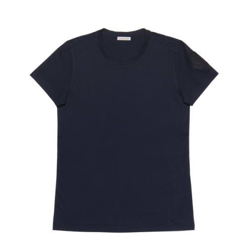 モンクレール MONCLER Tシャツ コピー レディース 8086261 V8002 778 半袖Tシャツ NAVY ダークブルー