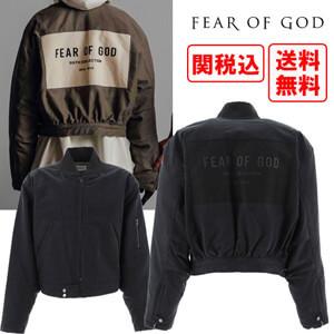 関税・送料込 FEAR OF GODコピー with logo Zipped ジャケット