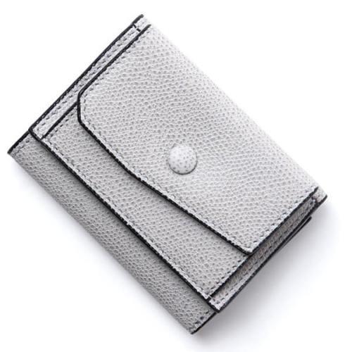 ヴァレクストラ スーパーコピー Valextra 3つ折り 財布 v8l26-28-ce ライトグレー