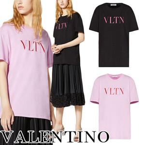 VALENTINO◆VLTN ヴァレンティノ ロゴTシャツ コピー 2色 プリント TB3MG07D3V645F