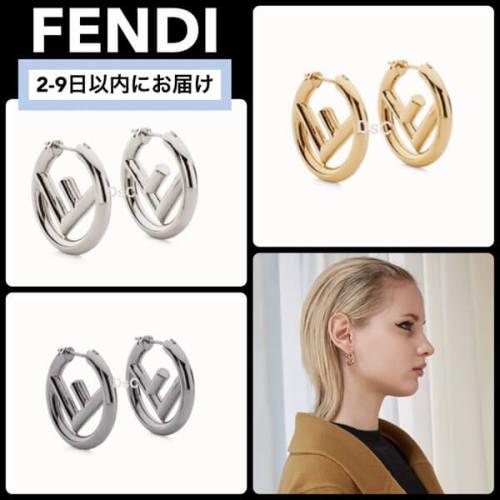 フェンディ ピアス 偽物 FENDI★F is Fendi ロゴ ピアス