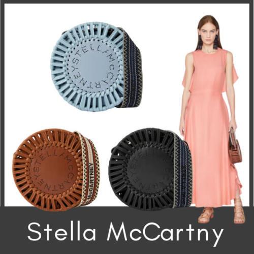 ステラマッカートニー 偽物 Stella McCartney 新しい丸カゴ ロゴ サークル バッグ ハードタイプの円形バッグ