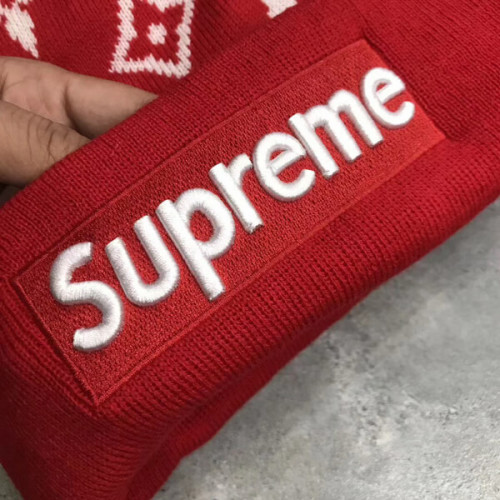 supreme ニット 帽 偽物 シュプリーム Vuitton Big Logo Knit キャップ