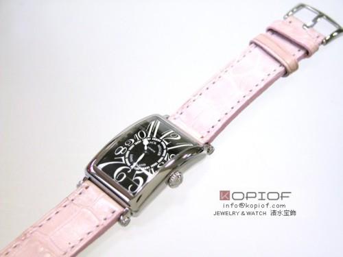 フランクミュラー ロングアイランド スーパーコピー902Q OG OG(WG) ピンク皮 ブラック