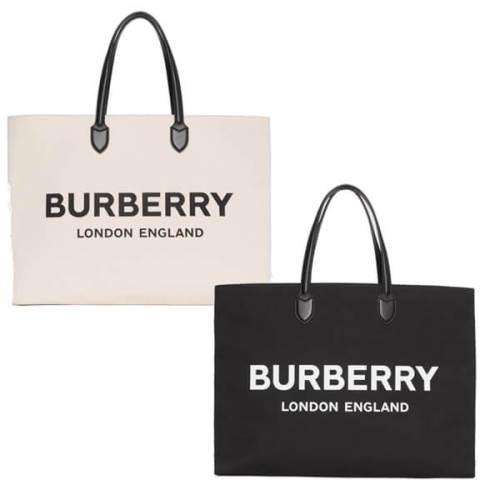 【BURBERRY】バーバリー キャンバストートバッグ コピー ロゴデティール8009268