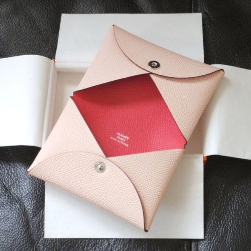 エルメスコピー GIFTに最適 Calvi ローズエグランタイン&ローズジャイプール エプソン カードケース