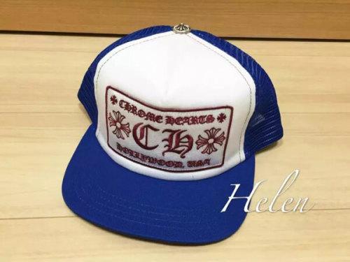 クロムハーツ 帽子 コピー CH Trucker Cap 青白