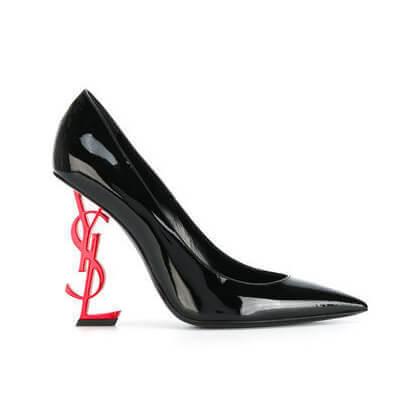 サンローラン靴コピー ヒールがオシャレなOpyum 110 パンプス ブラックSaint Laurent