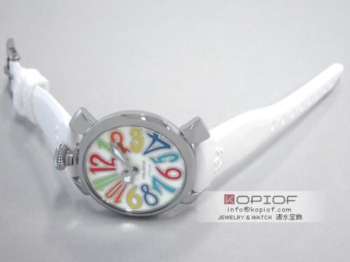 ガガミラノ マヌアーレ40MM スーパーコピー5020.1 ホワイトラバー ホワイトシェル/マルチカラーアラビア