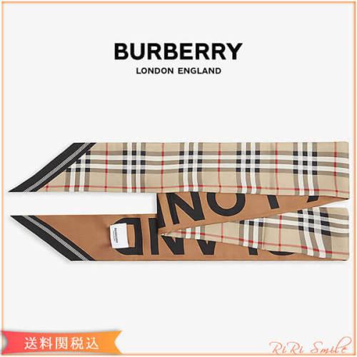 Burberry バーバリー ネクタイ 偽物 チェック スキニー シルク スカーフ