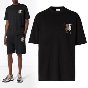 ★Burberry★バーバリー Tシャツ コピー コントラストロゴ 半袖