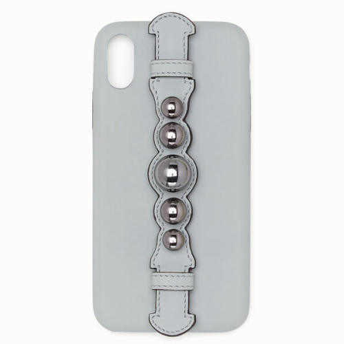 フェンディiPhoneXS ケース コピー FENDI パールストラップ iPhoneX iPhone Xsケース /ピンク&ブルー