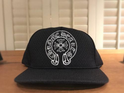 クロムハーツ 帽子 コピー ホースシュー 黒 帽子 キャップ トップ部シルバー925