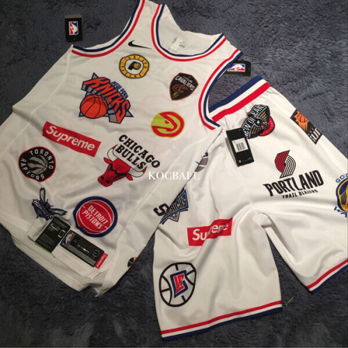 WEEK3 スーパーコピー Supreme NBA teamsAuthentic Jersey-White Tシャツ・カットソー