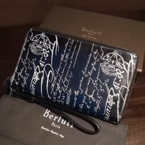 ベルルッティ財布 コピーBerluti 両面ダブルスタンプ希少品 限定シルバー ベルルッティ TALI