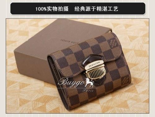 ルイヴィトン ダミエ スーパーコピールイヴィトン ダミエポルトフォイユ・ジョイ N60034小銭入れ付き 二つ折り財布