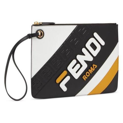 フェンディ クラッチバッグ コピー FILA ロゴストライプ スモール レザー モデルコード S020 5HL