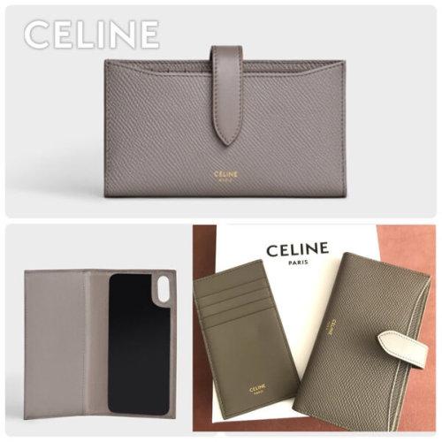 セリーヌ iphoneケース コピー【CELINE】NEW 手帳型 iPhone X/XS ケース グレインドカーフスキン