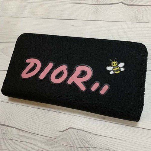 Dior × KAWS BEE ロゴ 長財布 コピー ブラック