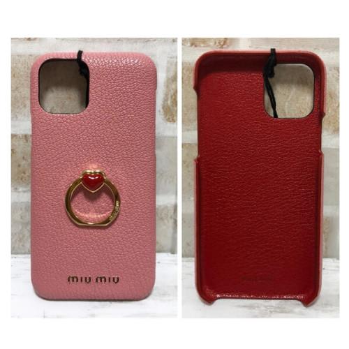 miumiu iphoneケース コピー iphone 11pro 11proMAX ケースハート リング付きで、指をかけて使ったり