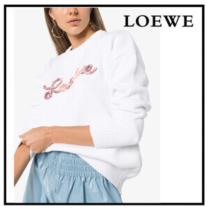 ☆LOEWE☆ロエベ トレーナー 偽物 セーター ロゴ入り♪S540333X77