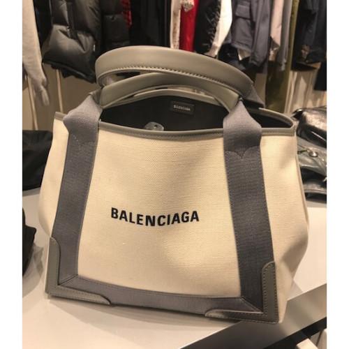 バレンシアガ トート 偽物 ロゴ BALENCIAGA セールで嬉しい入荷 ポーチ付きGreyCABAS/S