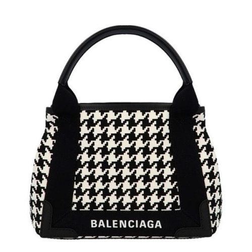 バレンシアガ トートバッグ コピー Balenciaga ネイビー カバ XS ハウンドトゥース