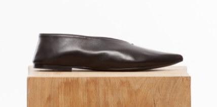 最旬セリーヌ靴コピー Cut ラムレザー フラットシューズ ナッパラムスキンレザー 100%