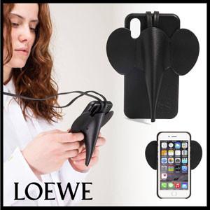 ☆LOEWE ロエベ iPhoneケース コピー エレファントレザーiPhoneケースAnagram/象 C719C80X
