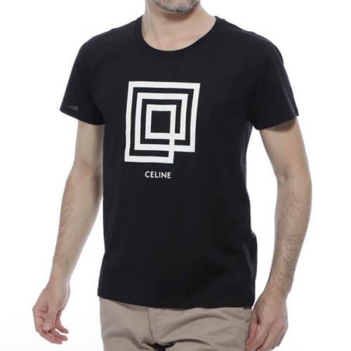 セリーヌ tシャツ 偽物 CELINE クルーネック LABYRINTHE INVITATION SHOW 2X308605G.38AW