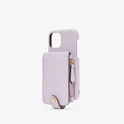 fendi iphoneケース コピー ロゴ コインケース iPhone 11 Pro ケース ライラックレザー カバー