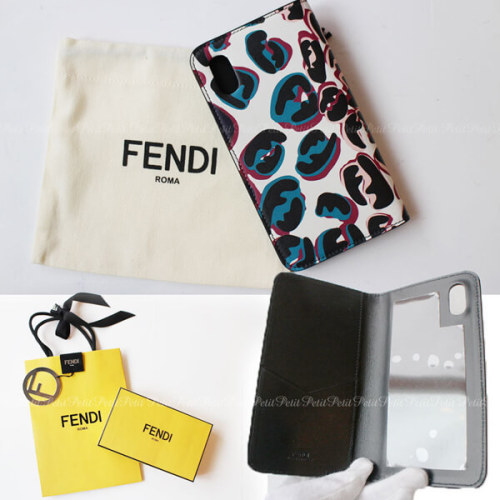 フェンディiPhoneXS ケース コピー FENDI レオパード柄FFマーク 手帳型iPhone X iPhone Xs用ケース